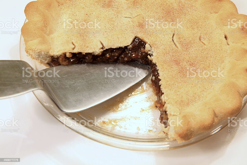 Apple Raisin Mince Pie stock photo