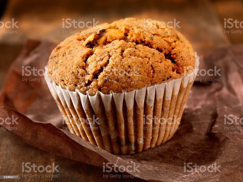 Apple Raisin Muffin stock photo