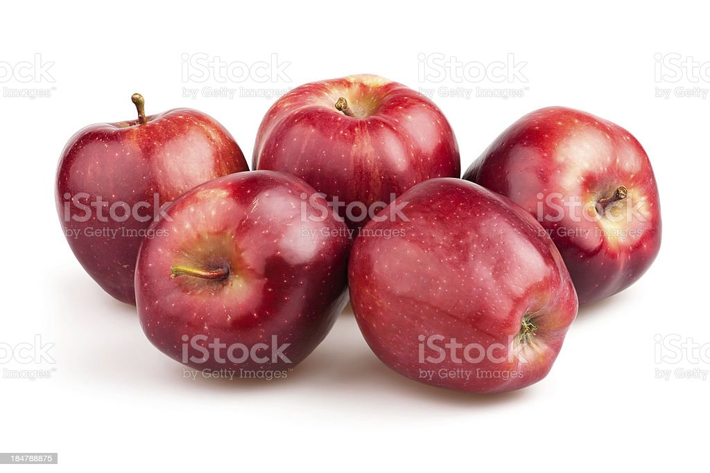 apple red group stock photo