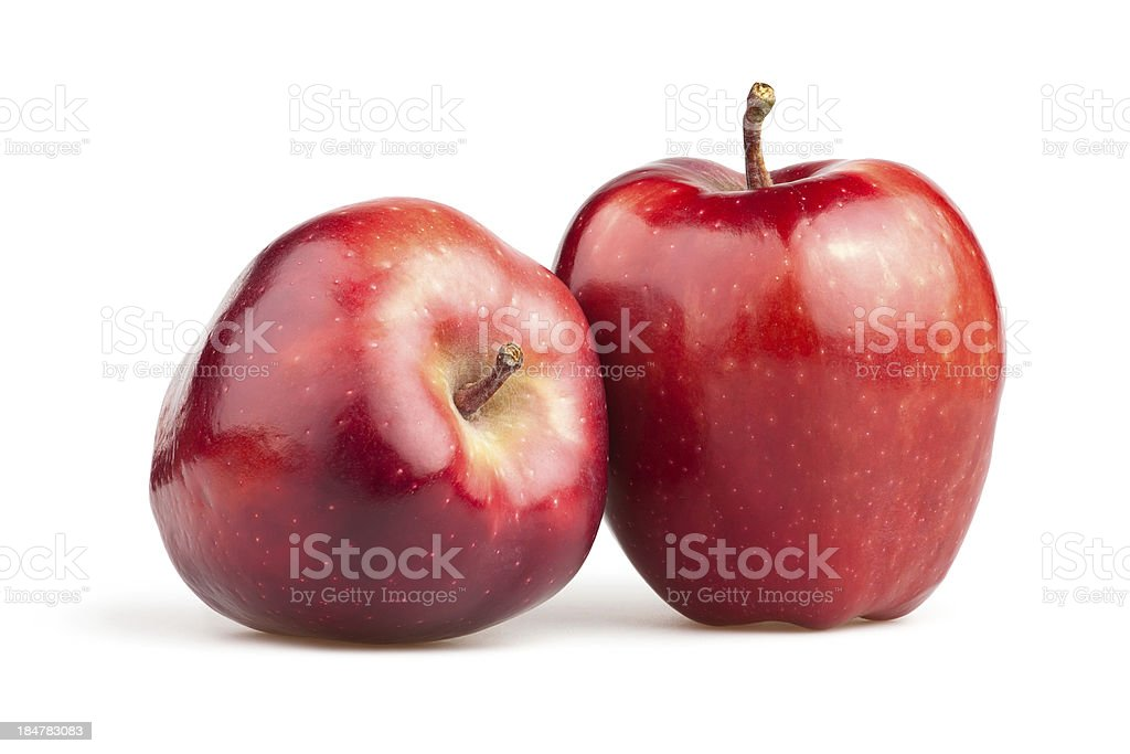 apple red two stock photo