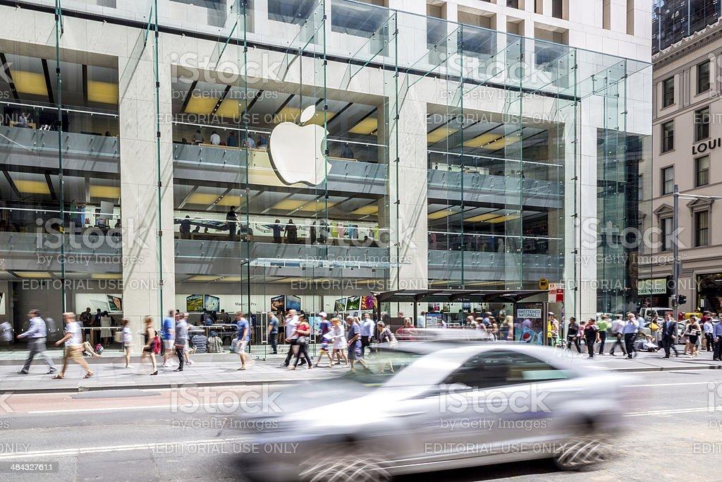 Apple Retail Store George Street, Sydney, Australia royalty-free stock photo