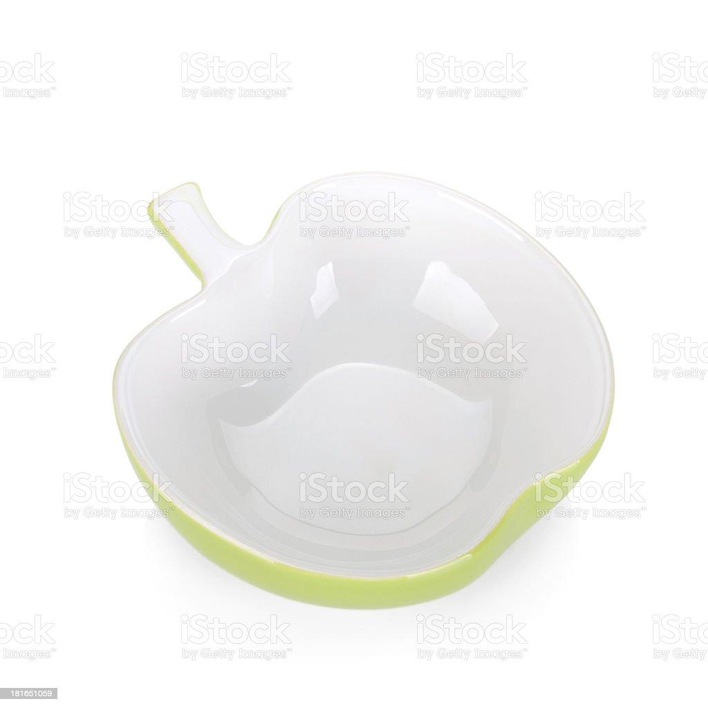 Apple shaped bowl royalty-free stock photo