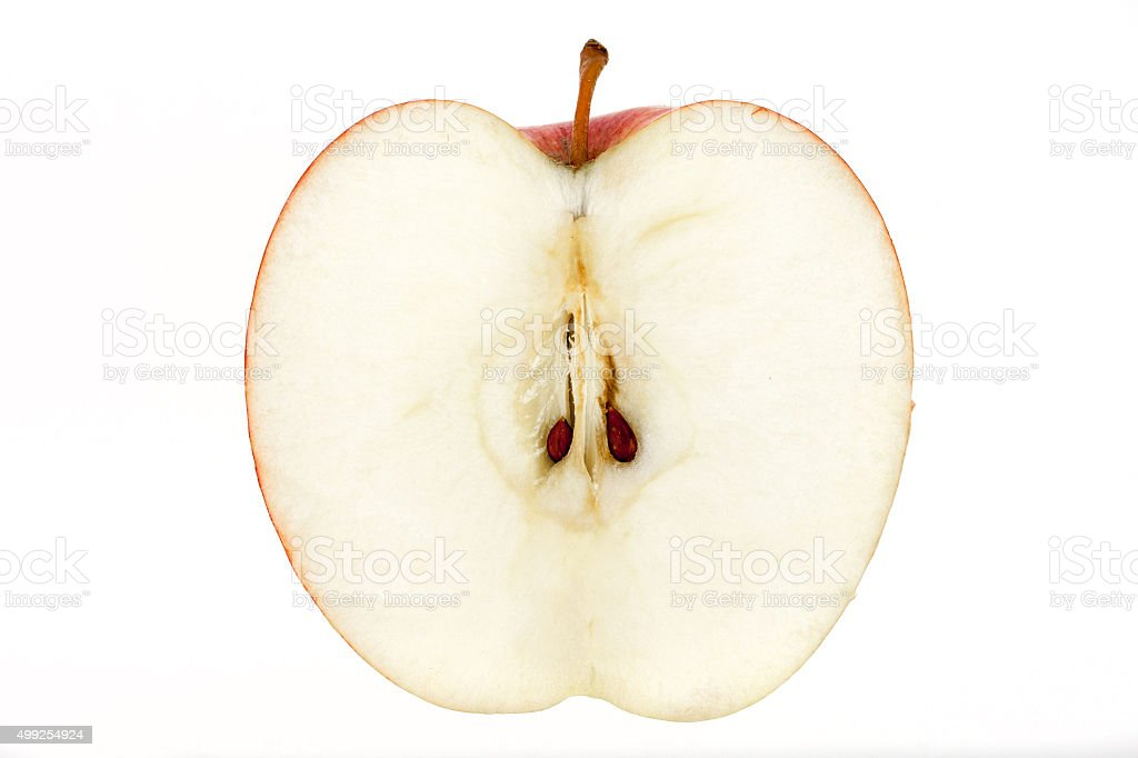 Apple slice isolated on white stock photo