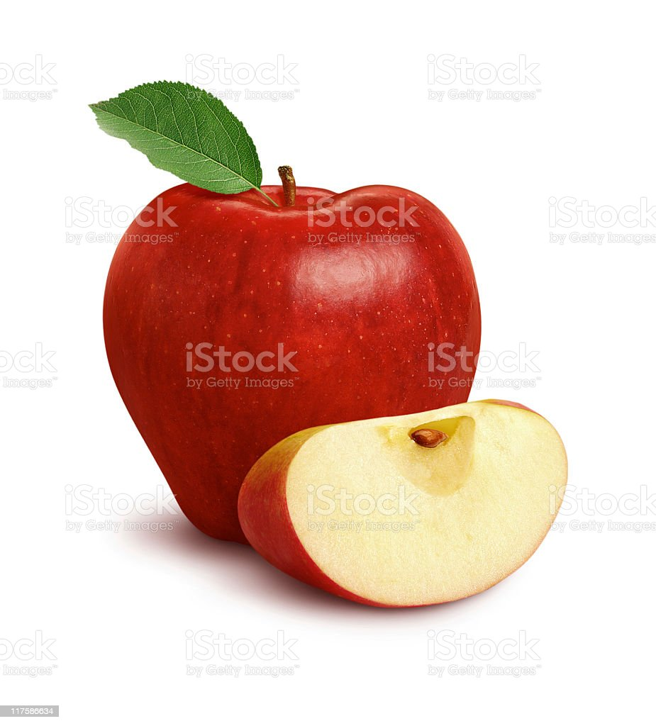 Apple & Slice stock photo