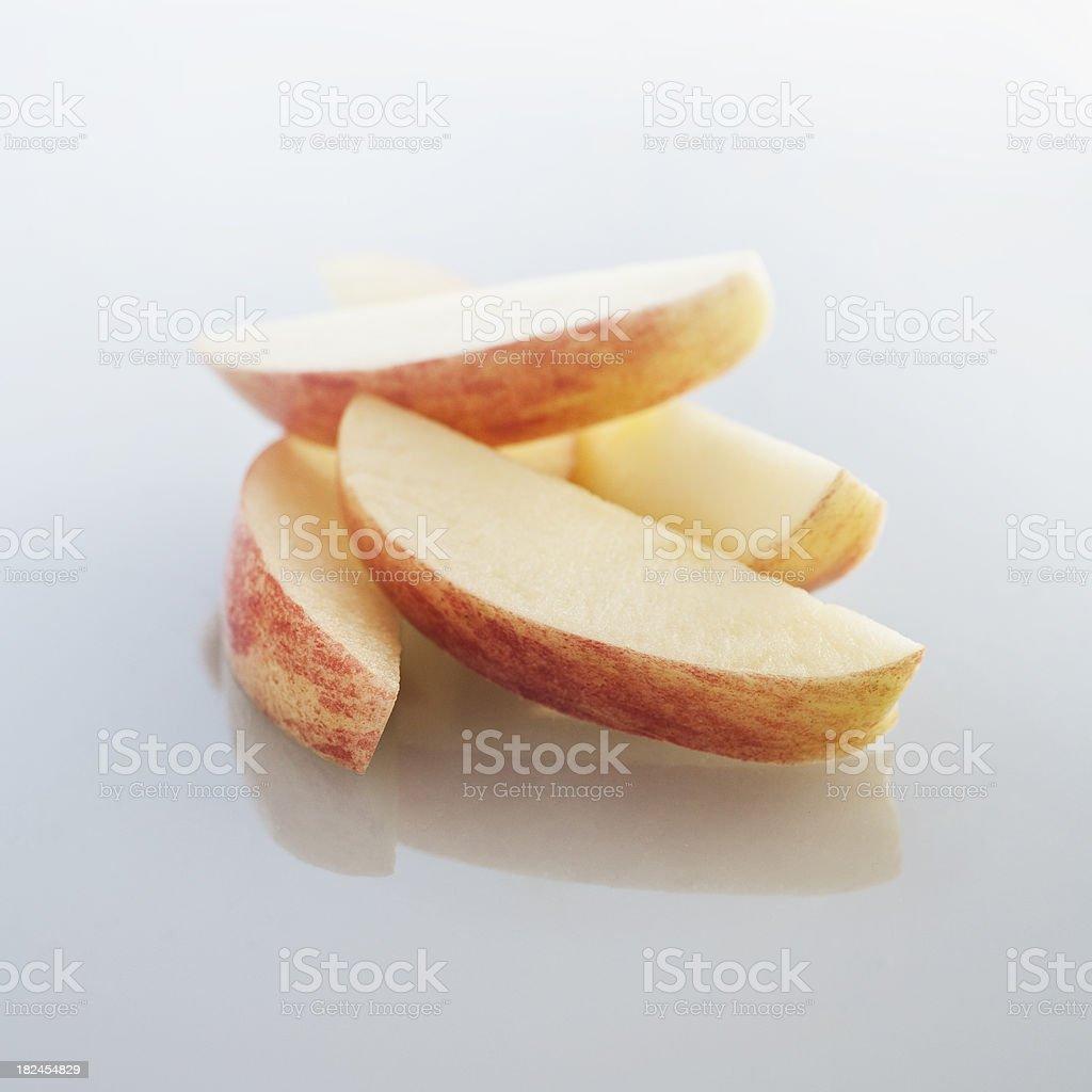 apple slices stock photo