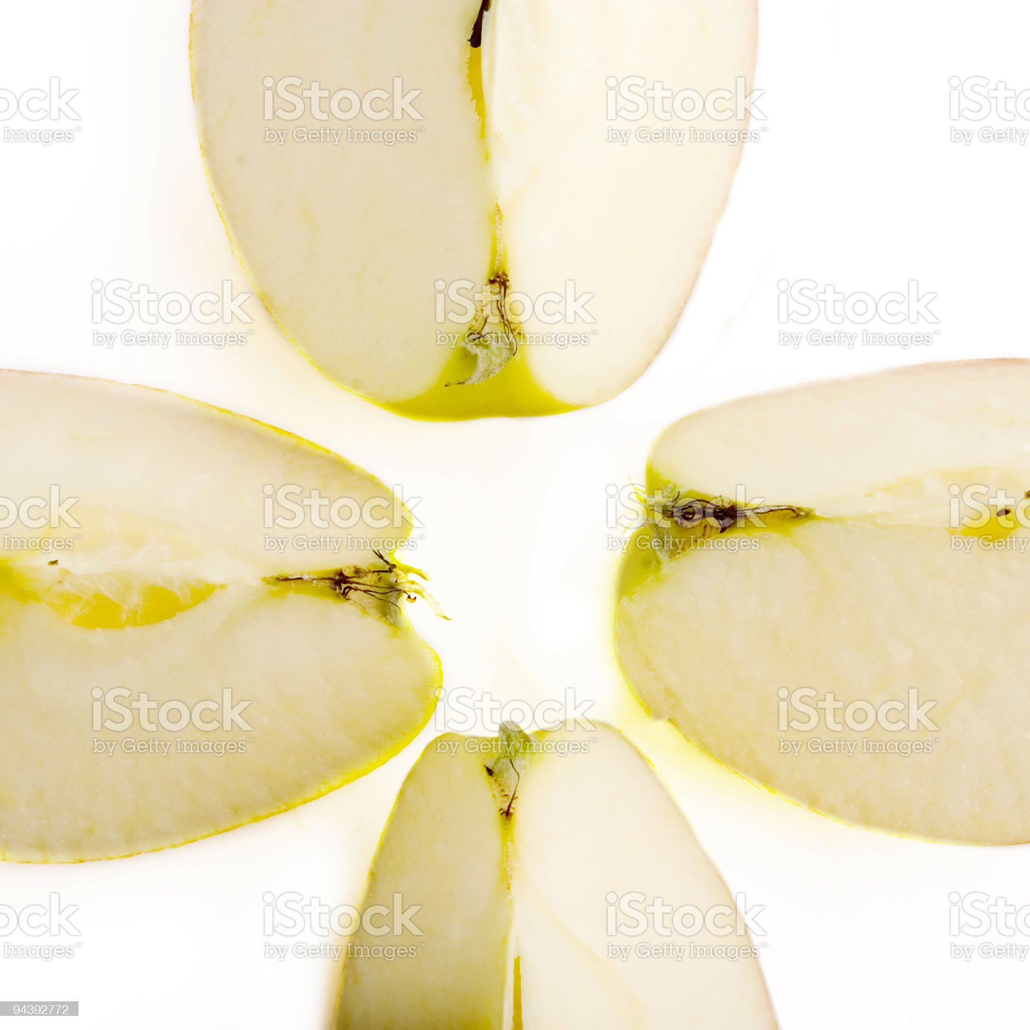 Apple Slices royalty-free stock photo