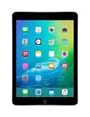 Apple Space Gray iPad Air 2 with iOS 9