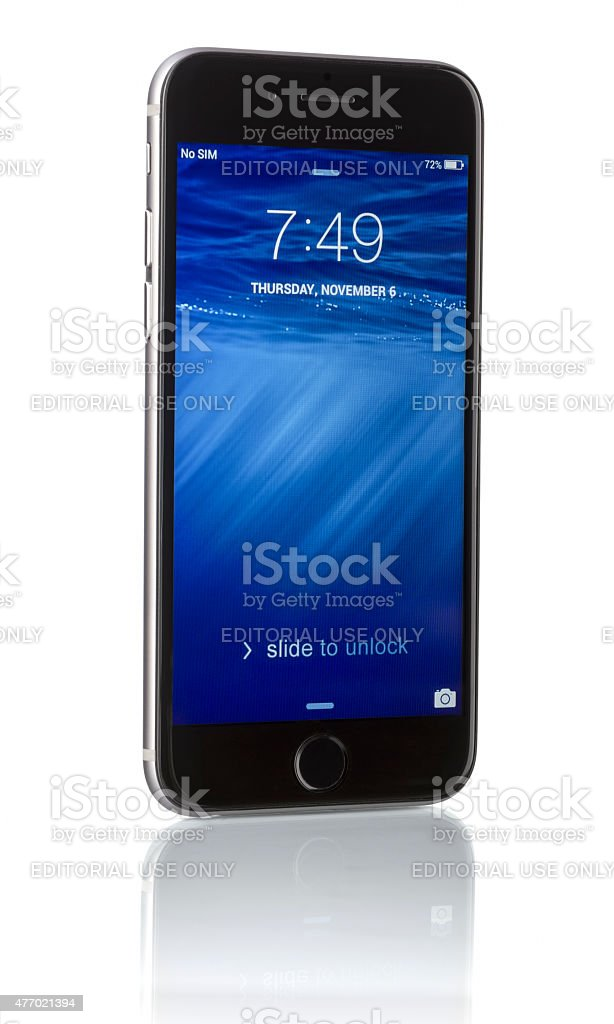 Apple Space Gray iPhone 6 stock photo