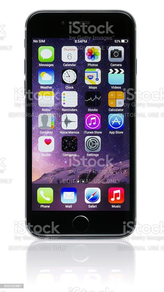 Apple Space Gray iPhone 6 stock photo