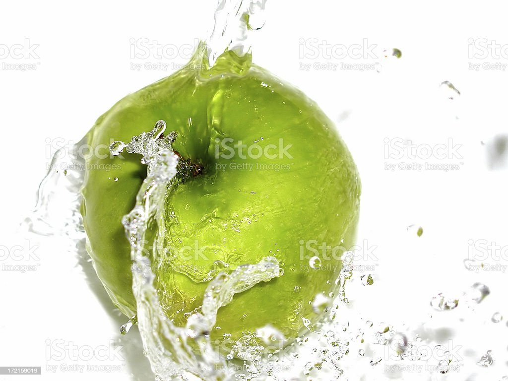 apple splash 02 royalty-free stock photo