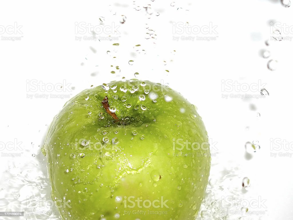 apple splash 03 royalty-free stock photo