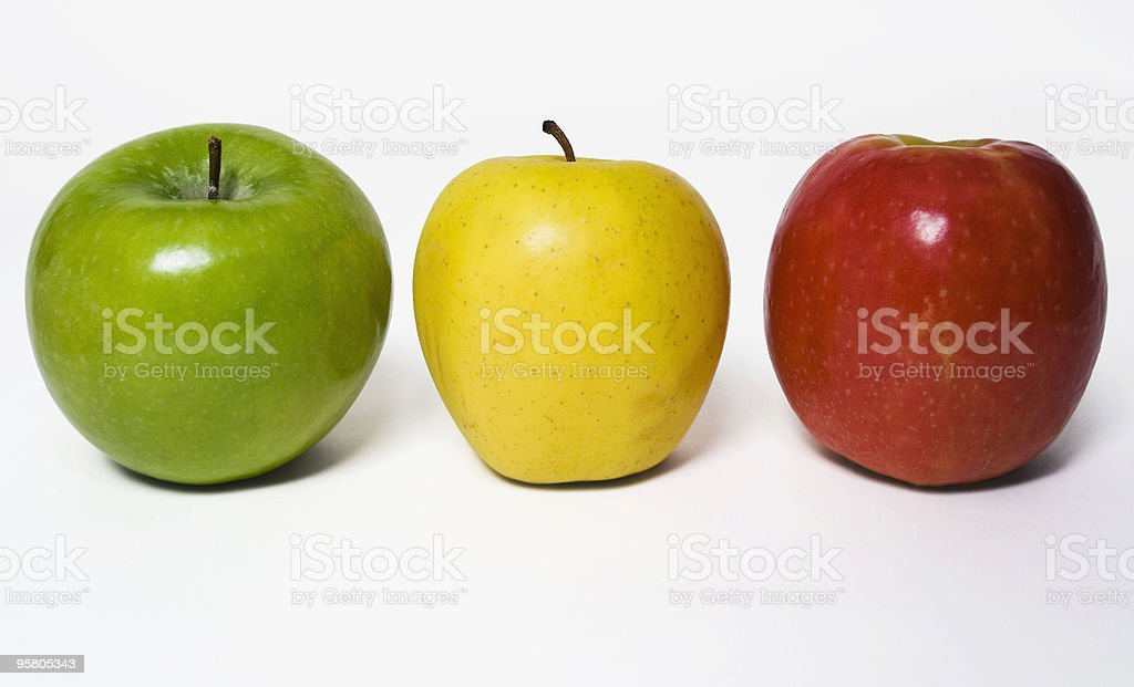 Apple Stoplight royalty-free stock photo