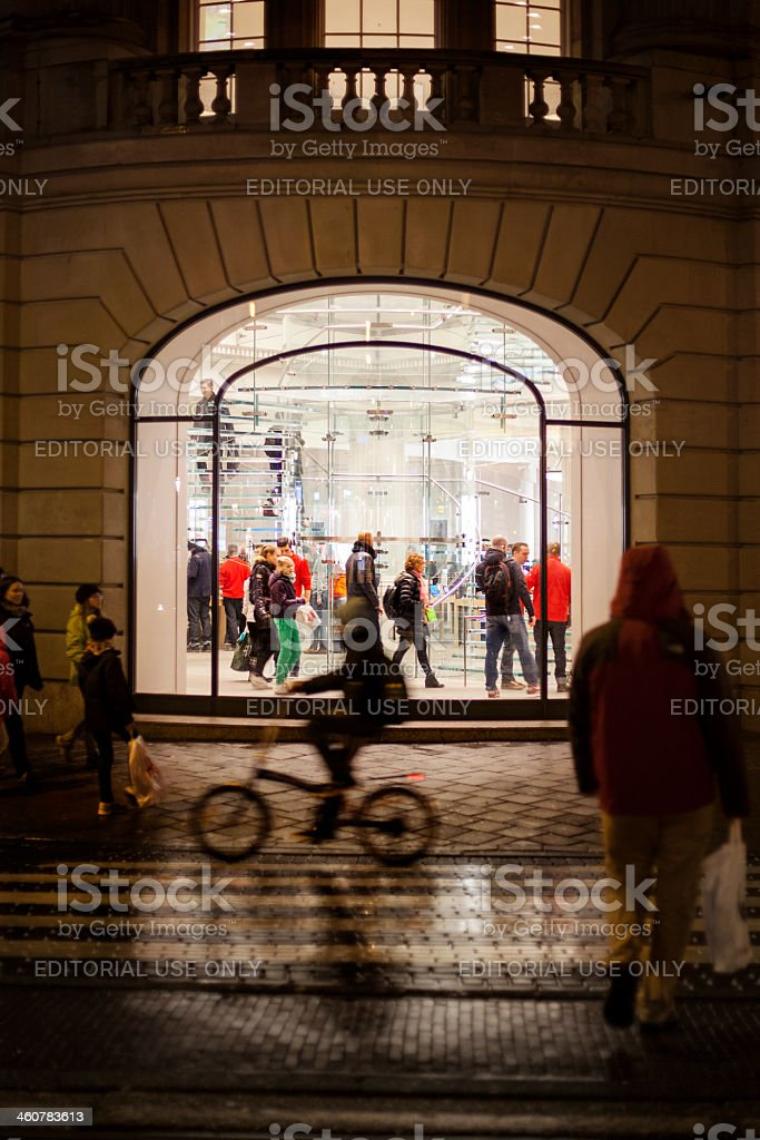 Apple Store Amsterdam stock photo