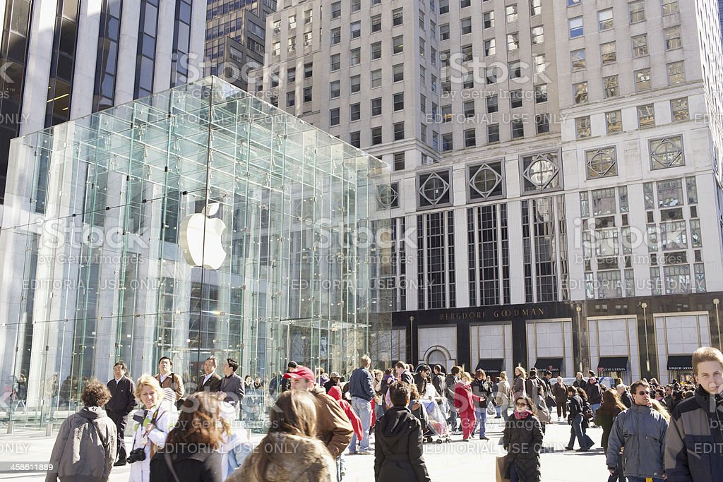 Apple Store Fifth Avenue New York City royalty-free stock photo