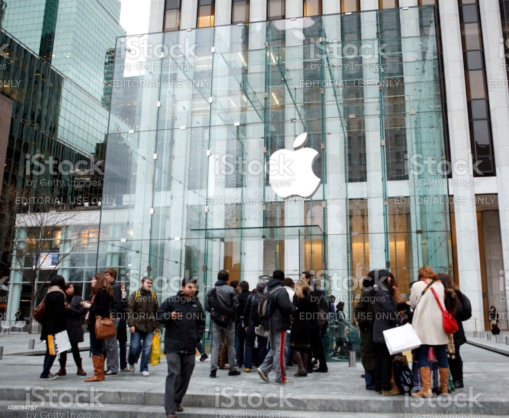 Apple Store Fifth Avenue New York royalty-free stock photo