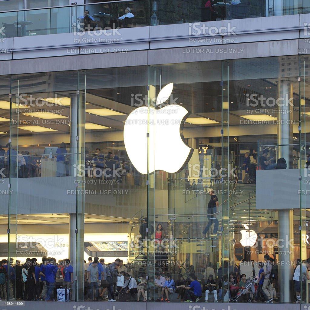 Apple Store IFC mall Hong Kong royalty-free stock photo