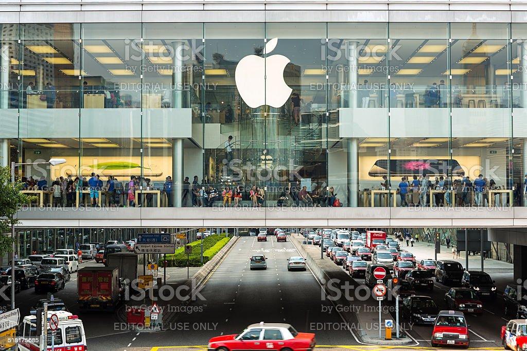 Apple Store IFC mall Hong Kong stock photo