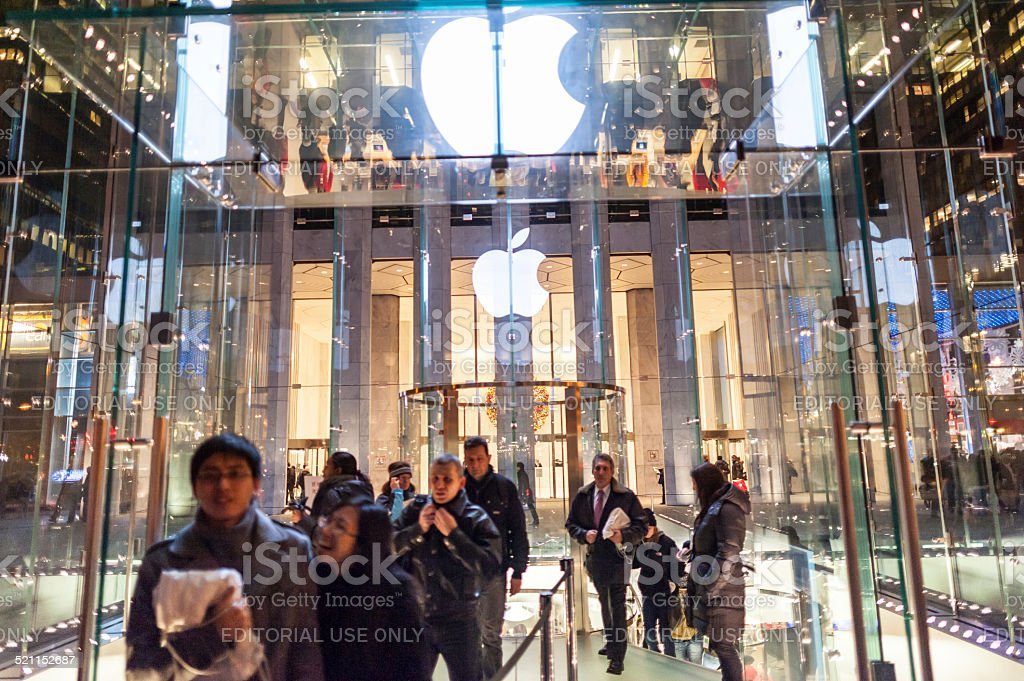 Apple Store in 5th Avenue, New York City stock photo