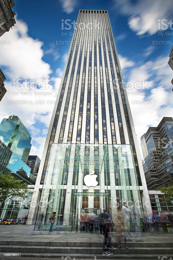 Apple Store in 5th Avenue stock photo