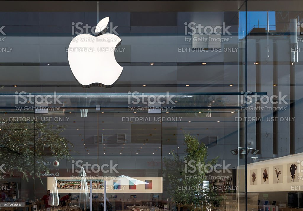Apple store in Adelaide stock photo