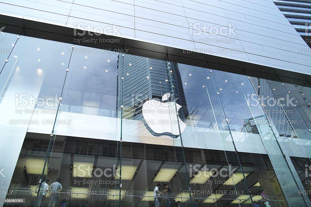 Apple Store in Causeway Bay, Hong Kong royalty-free stock photo
