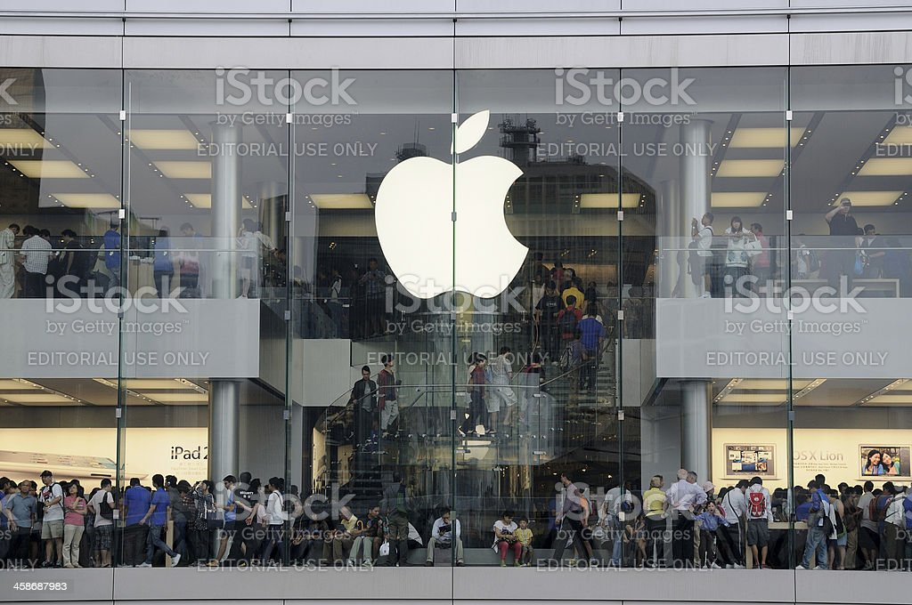 Apple store in  Hong Kong royalty-free stock photo