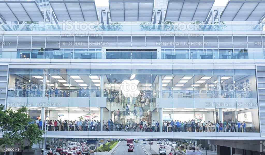 Apple Store in HongKong, China stock photo