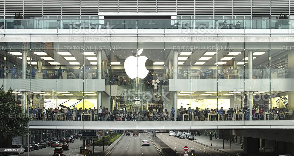 Apple Store in International Finance Centre Hong Kong stock photo