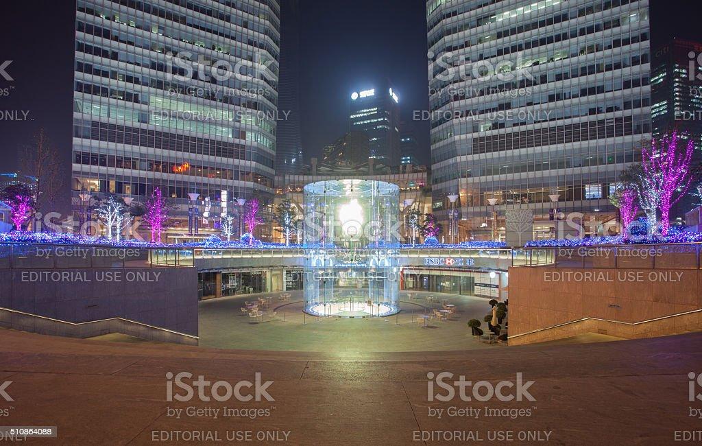 Apple Store in Lujiazui, Shanghai stock photo