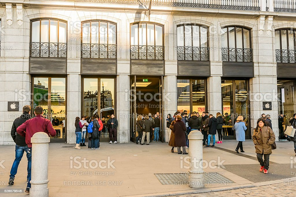 Apple Store in Madrid stock photo