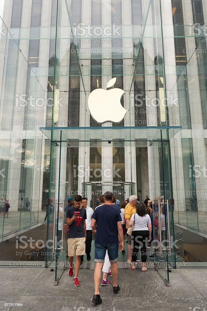 Apple Store in Midtown Manhattan, New York City stock photo