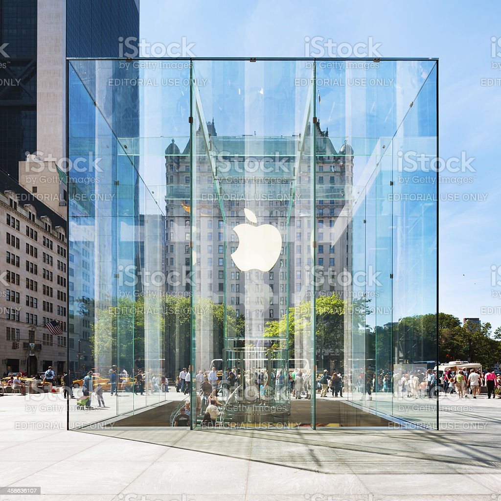 Apple Store in New York City royalty-free stock photo