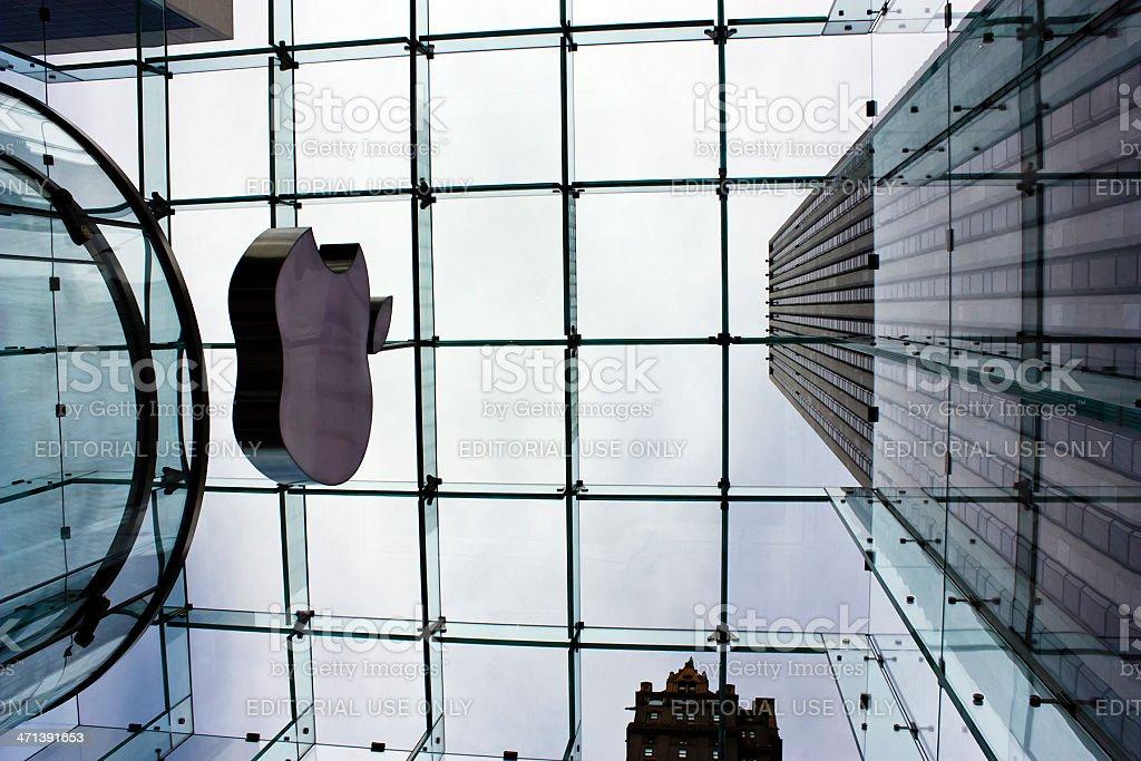 Apple Store in New York stock photo