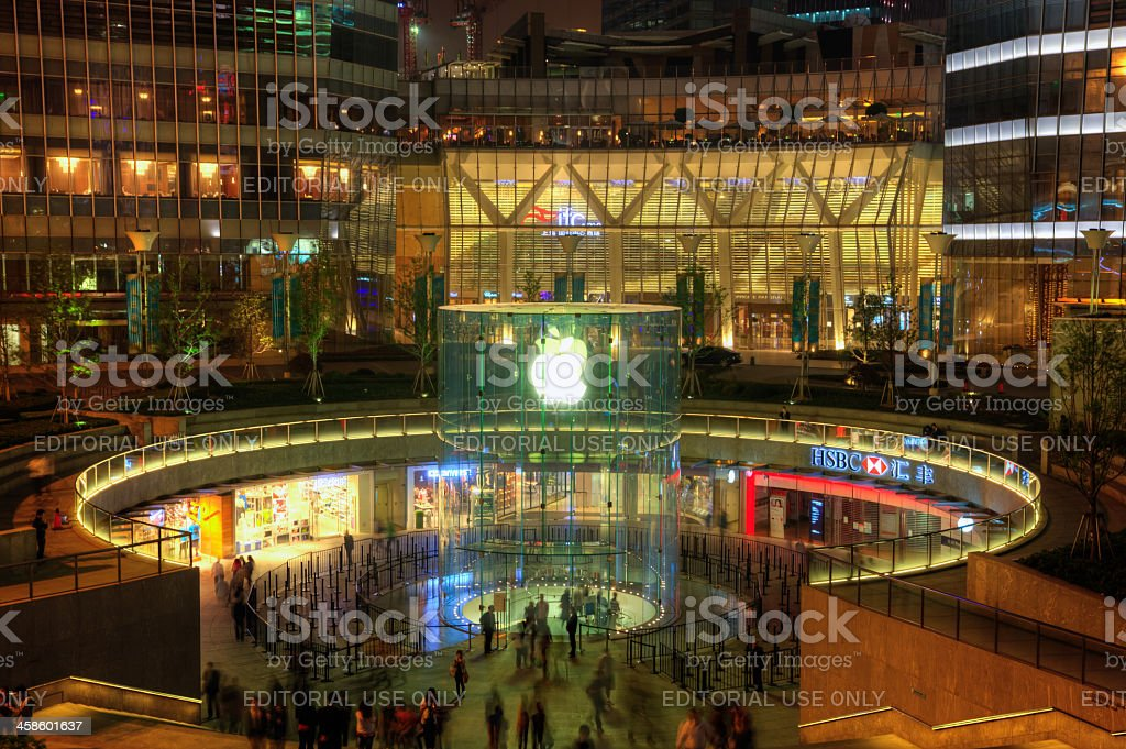 Apple store in Pudong, Shanghai royalty-free stock photo