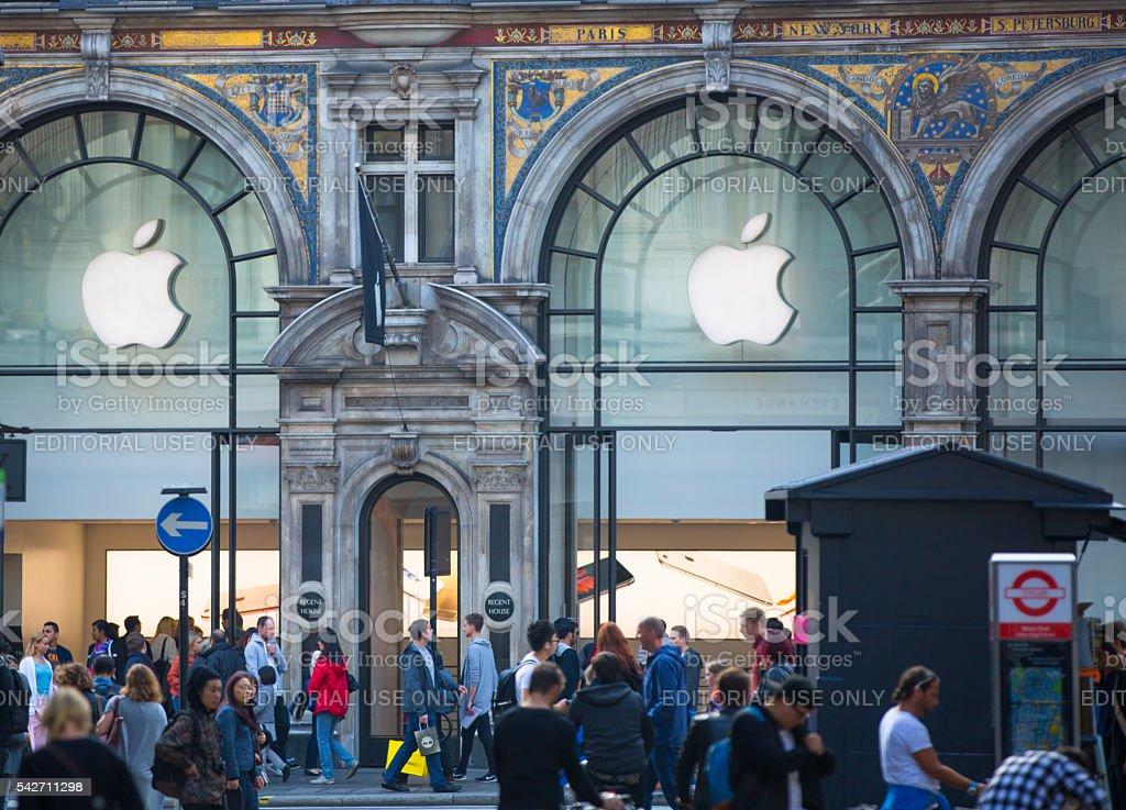 Apple store, London stock photo