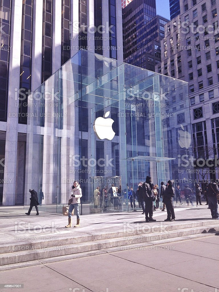 Apple store on 5th Avenue - New York stock photo