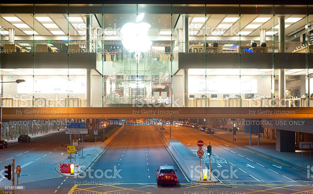 Apple store royalty-free stock photo