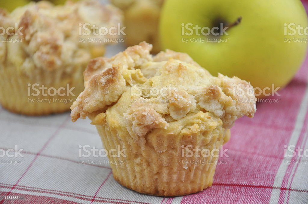 Apple Streusel Muffin stock photo