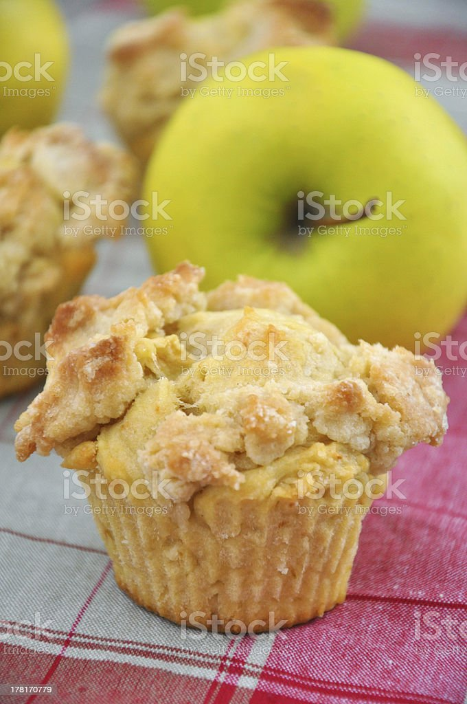 Apple Streusel Muffin royalty-free stock photo