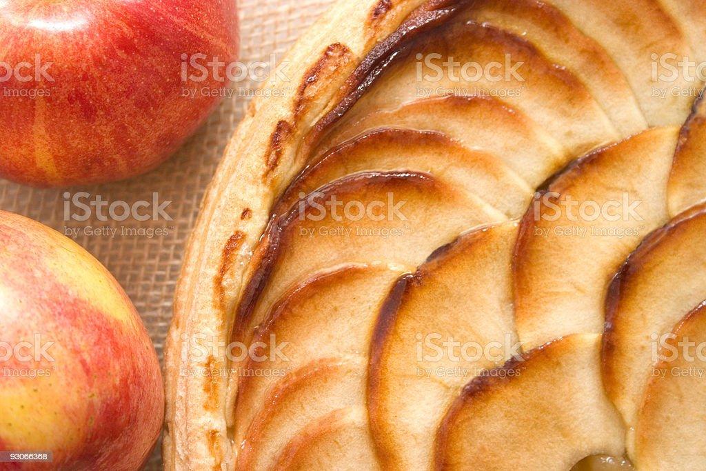 Apple tart abstract royalty-free stock photo