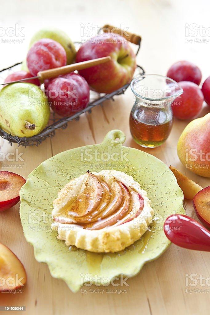 Apple tart with fresh fruit royalty-free stock photo