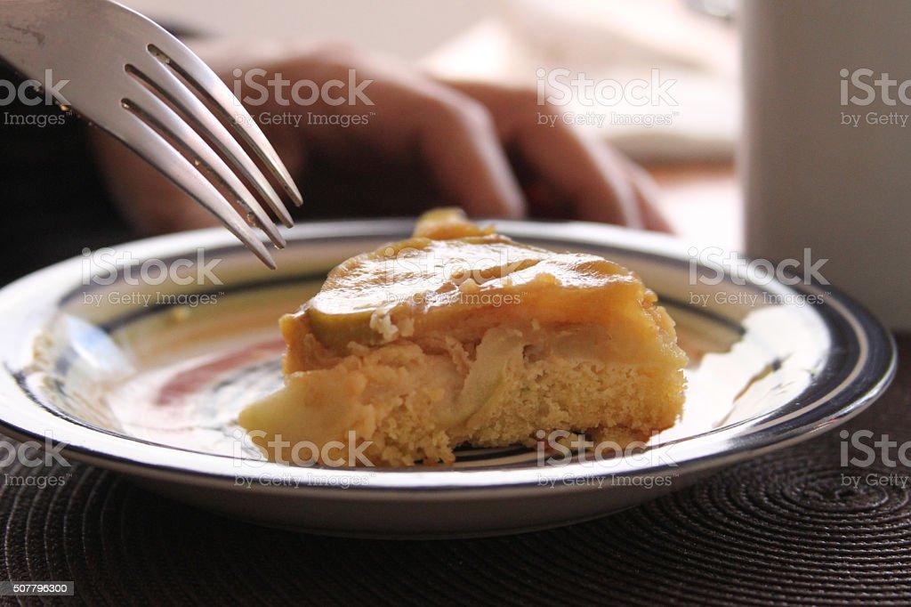 Apple Tarte Tatin Cake stock photo