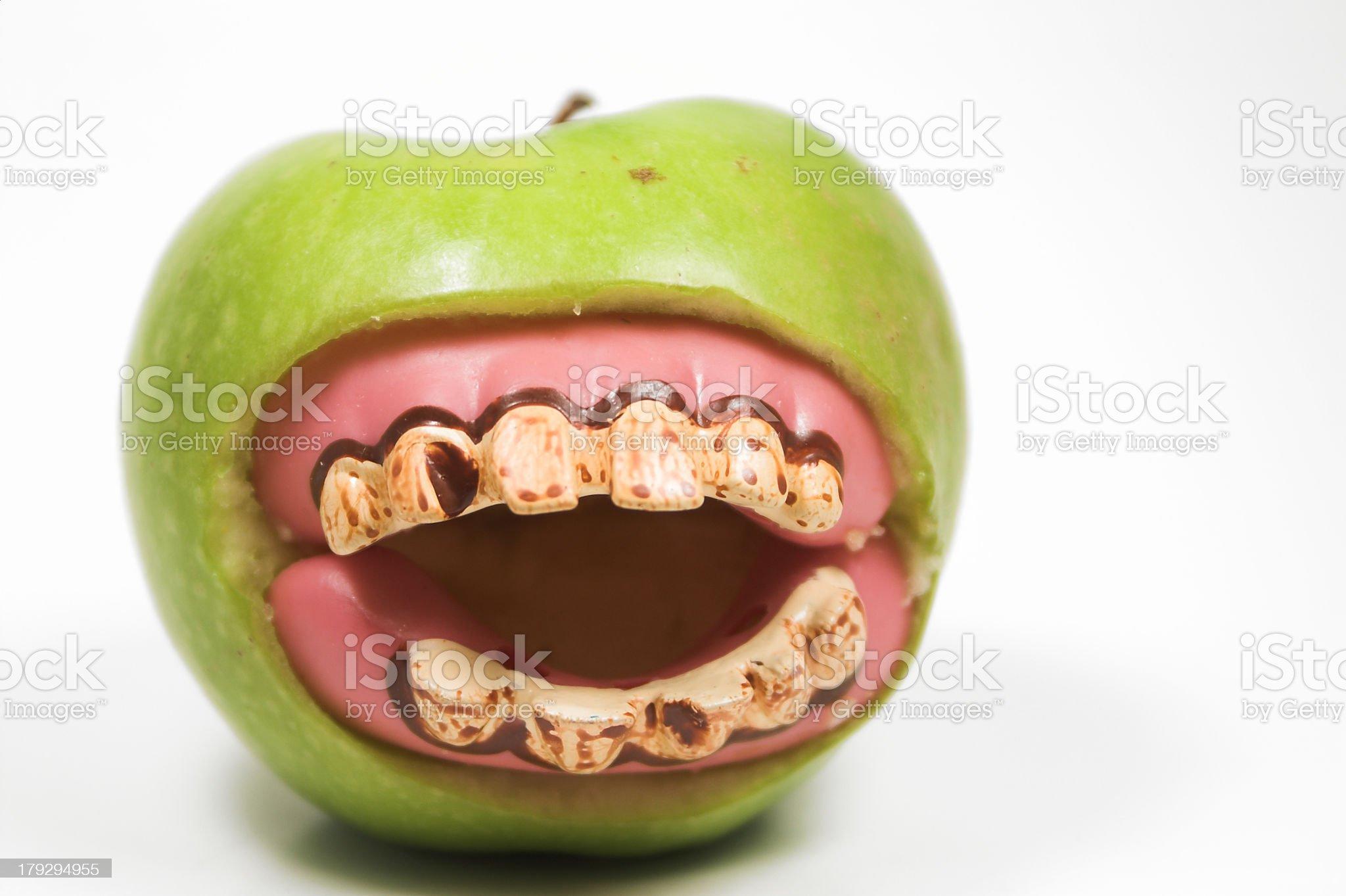 Apple Teeth royalty-free stock photo