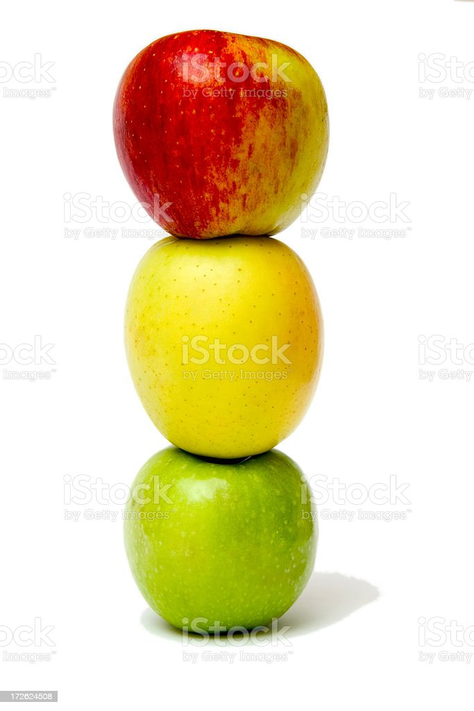 Apple traffic lights stock photo