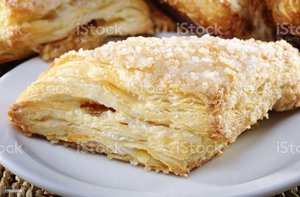 Apple turnover pastry stock photo