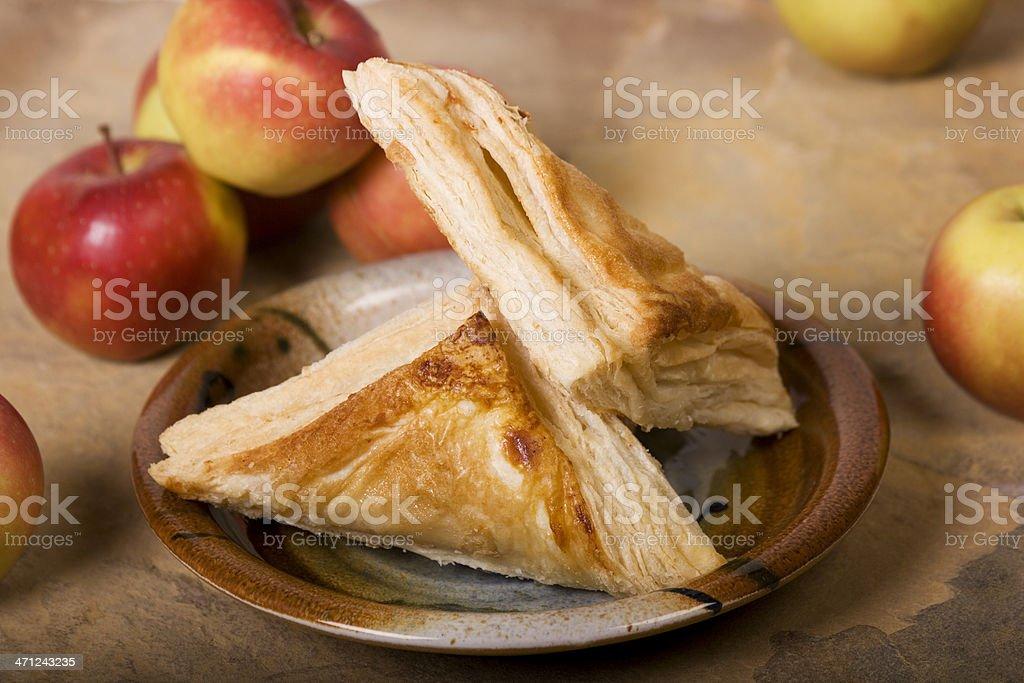 apple turnovers stock photo