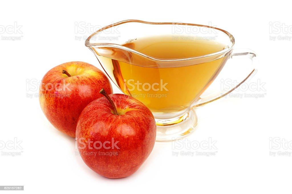 Apple vinegar close-up stock photo