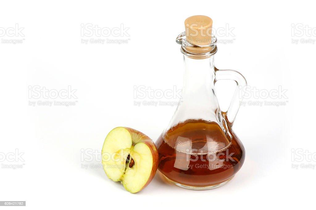 Apple vinegar natural fermentation stock photo
