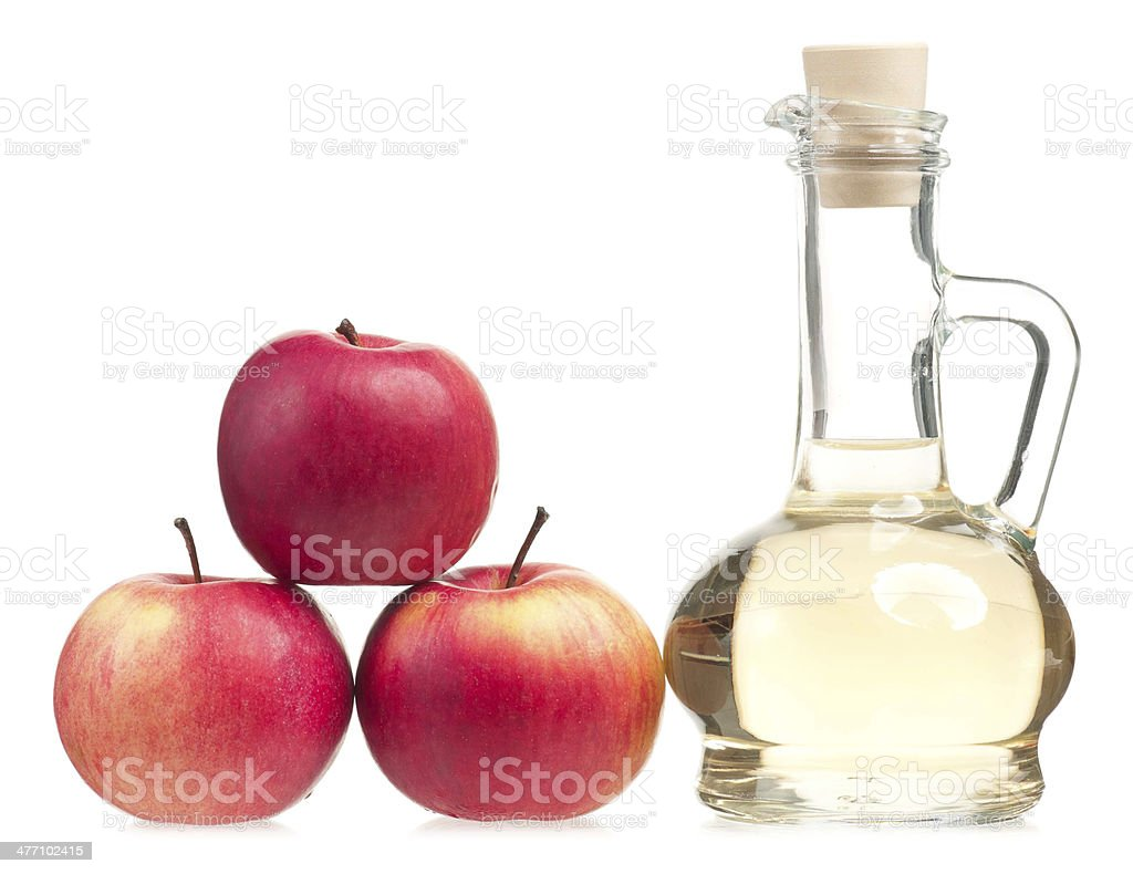 Apple vinegar stock photo