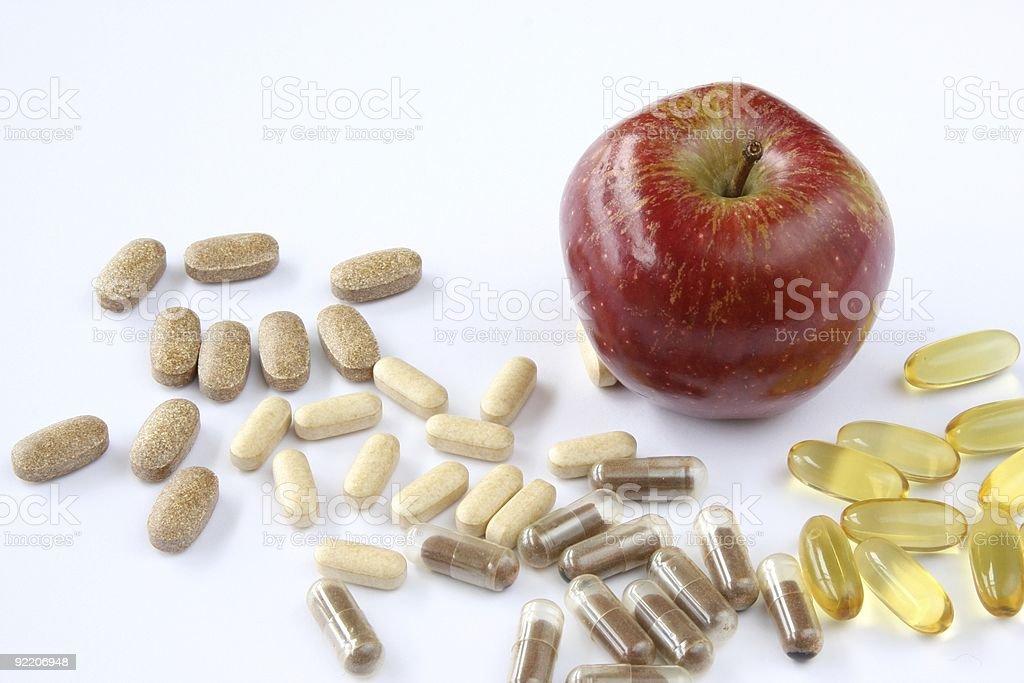Apple Vitamins royalty-free stock photo